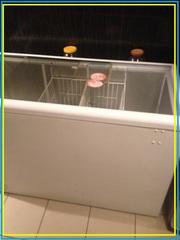 Ларь морозильный Nord Норд Б/У с прямым стеклом.